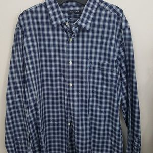 Nautica blue plaid button down in size XL